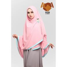 Harga Hijab Syari Hijab Jumbo Hijab Khimar Amora List Pastel Pink Branded