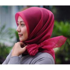 Hijab Syari Instan ORGANZA-Maroon Best Seller