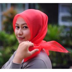 Hijab Syari Instan ORGANZA-Merah Best Seller
