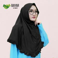 Hijabana Hijab Jilbab Kerudung Instan Khimar  Najwa Rempel Lipit  Grosir - Hitam
