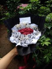 HIJABBASIC Buket Hijab Bouquet Hijab - Wisuda Wedding Hantaran Graduation Hadiah Ultah Kado Souvenir