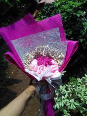 HIJABBASIC Hijab Bouquet Hijab Buket - Wisuda Hand Buket Wedding Graduation Ultah Souvenir Kado Gift