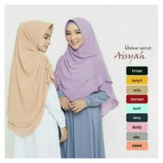 Hijab/Jilbab Khimar Aisyah Serut - Hijab Polos - Double Layer Sifon Ceruti - Gold/Kunyit
