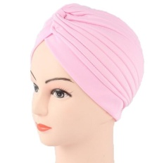 Jilbab Fashion Headwear Wanita Sorban Muslim Headwrap Headband Yoga Hat Cap Headbands Black Red Ungu Kuning Blue Gold Silver- INTL