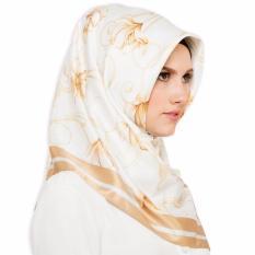 Hijabstore - Angel Lelga Original Scarf 130 Motif - Putih - Bunga