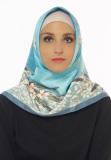 Ulasan Tentang Hijabstore Angel Lelga Original Scarf 164 Biru Langit Motif Bunga