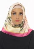 Review Toko Hijabstore Angel Lelga Original Scarf 191 Pink Motif Bunga