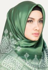 Hijabstore - Angel Lelga Original Scarf AL 001 - Dark Green Motif Etnik