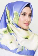 Hijabstore - Angel Lelga Original Scarf AL 046 - Blue Motif Bunga