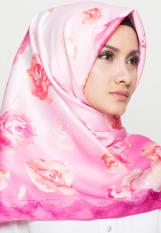Hijabstore - Angel Lelga Original Scarf AL 047 - Violet Motif Bunga