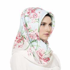 Hijabstore - Angel Lelga Original Scarf AL 123 - White Blue Floral