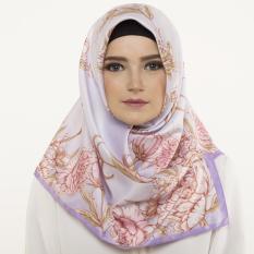 Hijabstore - Angel Lelga Original Scarf AL 157- Purple Pink Floral