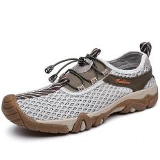 Spesifikasi Hiking Sepatu Outdoor Nafas Asli Kulit Musim Panas Sepatu Sandal Pria Berkualitas Tinggi Kasual Beach Sepatu Sendal Wanita Intl Aiwoqi Terbaru