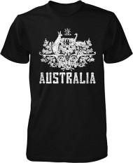 Panggul Hop Australia Mantel dari Arms South Wales Victoria Queensland Kustom Modis Kausal Katun Pria Lengan Pendek Leher-o T Kaus hitam-Internasional