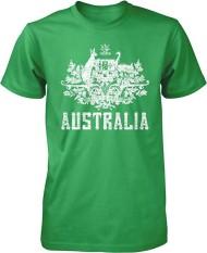 Panggul Hop Australia Mantel dari Arms South Wales Victoria Queensland Kustom Modis Kausal Katun Pria Lengan Pendek Leher-o T Kaus coklat-Internasional