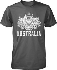 Panggul Hop Australia Mantel dari Arms South Wales Victoria Queensland Kustom Modis Kausal Katun Pria Lengan Pendek Leher-o T Kaus arang-Internasional
