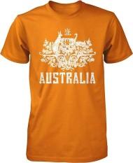Panggul Hop Australia Mantel dari Arms South Wales Victoria Queensland Kustom Modis Kausal Katun Pria Lengan Pendek Leher-o T Kaus biru Muda-Internasional