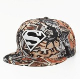 Review Joy Korea Mode Korea Topi Hip Hop Graffiti Bordir Superman Flat Hat Tan Tiongkok