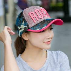 Topi Baseball Musim Panas Topi Model Biasa Pria Dan Wanita Korea Fashion Style Pelindung Terik Matahari (Merah muda)