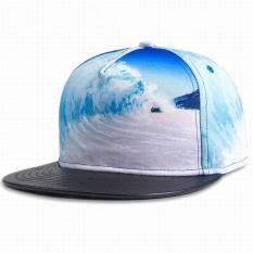 Hip Hop Pria Baseball Wanita Topi PU Pencetaka 3D Olahraga Di Luar Ruangan Topi Topi Musim Semi Musim Panas Topi Musim Gugur Dingin-Intl