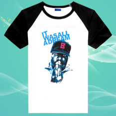 Hip Hop Notorius Biggie Smalls Berdoa 100% Cotton O Leher Unisex Insert Lengan Pendek T Shirt (International)