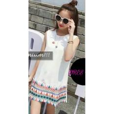 Hirani Collection - Dress Venotif - Putih
