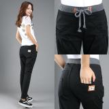 Jual Mm Versi Korea Jeans Hitam Kaki Perempuan Celana Harem Celana Hitam Hitam Baju Wanita Celana Wanita Celana Jeans Wanita Online