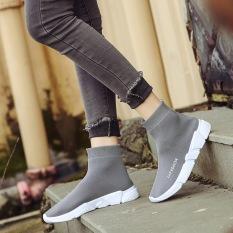 Beli Hitam Korea Fashion Style Musim Semi Baru Datar Papan Sepatu Kaos Kaki Sepatu Model Wanita Abu Abu A128 Sepatu Wanita Flat Shoes Murah Di Tiongkok