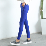Jual Hitam Musim Semi Dan Musim Gugur Kaki Kecil Lee Jeans Legging Biru Tua Saku Model Grosir