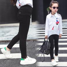 Spesifikasi Celana Pensil Musim Semi Perempuan Dan Gugur Bottoming Celana Modis Lee Jeans Hitam Yang Bagus Dan Murah