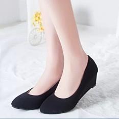 Spesifikasi Hitam Perempuan Ol Profesi Sepatu Sepatu Kerja Hitam Model Papan Cahaya Sepatu Wanita Flat Shoes Dan Harga