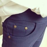 Spesifikasi Bilifu Celana Pensil Kaki Kecil Ditambah Beludru Musim Gugur Bagian Tipis Biru Tua Baju Wanita Celana Wanita Merk Oem