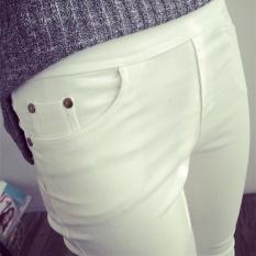 Promo Bilifu Celana Pensil Kaki Kecil Ditambah Beludru Musim Gugur Bagian Tipis Putih Baju Wanita Celana Wanita Oem
