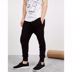 (HITAM-XL/XXL) Celana Panjang Pria Polos Basic Jogger Pant Sweatpant Joger pants Training Brooklyn