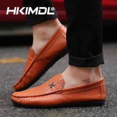 HKIMDL 2017 New Leather Casual Slip-Ons & Loafers Men Shoes Suede Carrefour Shoes Brown - intl