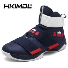 HKIMDL Pria/Wanita Kinerja Olahraga Basket Sepatu Bernapas Ringan Sneakers Merah-Intl