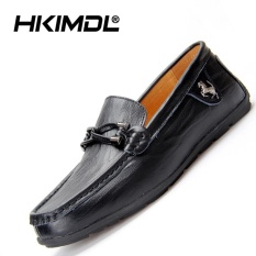HKIMDL New Leather Casual Driving Slip-Ons & Loafers Men Shoes Suede Carrefour Shoes Black - intl