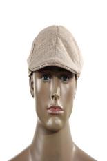 HKS Topi Balap Runcing Topi Datar Baret Country Golf Newsboy (Khaki)-Intl