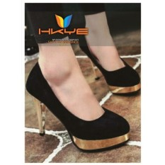Toko Hkye Shoes And Fashion Heels Wanita Pumps Heels Mroe Hitam Sepatu High Heels Cewek Sepatu Pantofel Hitam Dekat Sini