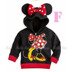 hm 26f pakaian anak perempuan / jaket kaos hoodie minnie mouse