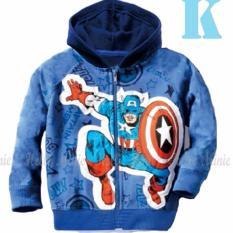 hm 26k pakaian anak laki laki / jaket kaos hoodie captain america