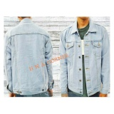 Jual Hna Jaket Jeans Denim Light Blue Original
