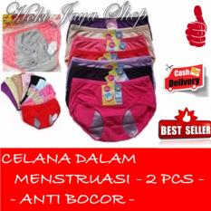 HOKI COD - Celana Dalam Khusus Menstruasi Anti Bocor Ekslusif Warna Unik One Size All Size - Multi Colour - 2 Pcs