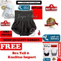 HOKI COD - Munafie Slim Pant Celana Korset - All Size - Hitam + Gratis Bra