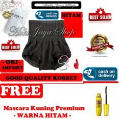 HOKI COD - Munafie Slim Pant Celana Korset - All Size - Hitam + Gratis Mascara The Fals Lash Volume Express - Maskara Waterproof - Model KUNING Warna Hitam Premium Quality - 1 Pcs