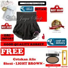 HOKI COD - Munafie Slim Pant Celana Korset - All Size - Hitam + Gratis SHEZI Eyebrow Stamp - Cetakan / CEtak Alis KOREA Style - Coklat Muda - Light Brown - 1 Pcs