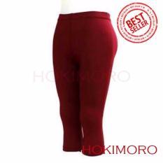 Hokimoro Celana Legging Leging Pendek Jumbo Merah