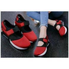 Harga Hemat Hokky Shoes Wanita Sepatu Kets Cewek Slip On Sj40 Abu Hitam Merah Murah Hot Sale Deal