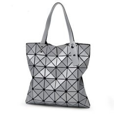 HOLA Elegan Wanita Mewah Diamond Handbag Dilipat Kisi Shoulder Tote Bag-Intl