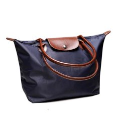 Toko Hola Ladies Women Long Handbags Vintage Waterproof Nylon Tote Bag Folding Handbag Dark Blue Intl Oem Di Tiongkok